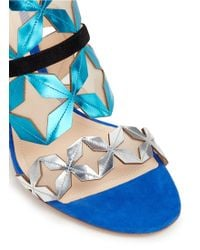 Nicholas Kirkwood | 'stella' Star Cutout Metallic Leather Sandals | Lyst