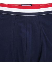 Tommy Hilfiger Organic Cotton Navy Blue Boxer Shorts With Tricolour Waistband - Lyst