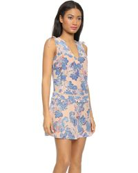 Twelfth Street Cynthia Vincent Drop Waist Dress - Paisley Print - Lyst