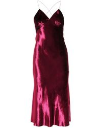 Marc Jacobs Panne-Velvet Gown - Lyst