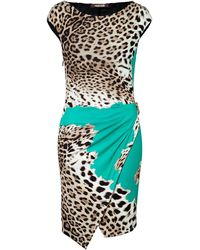 Roberto Cavalli Animal Print Dress - Lyst