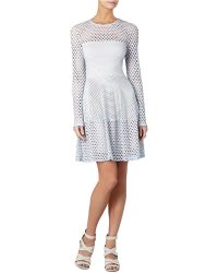 BCBGMAXAZRIA Kyla A-Line Long Sleeve Dress - Lyst