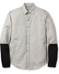 Public School Button Up Combo Shirt - Lyst