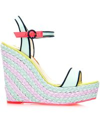 Sophia Webster Lucita Bi Colour Espadrille Wedge - Lyst
