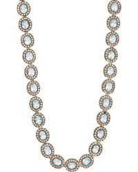 Munnu Aquamarine Diamond Necklace - Lyst