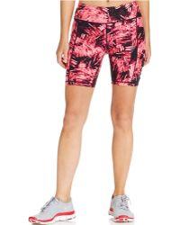Calvin Klein Performance Printed Bike Shorts pink - Lyst