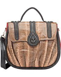 Zagliani - Snakeskin Aidha Shoulder Bag-black - Lyst