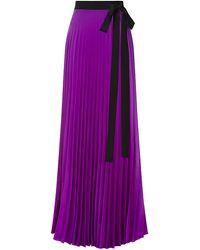Issa Felicity Pleated Maxi Skirt - Lyst