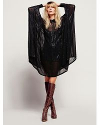 Free People Sequin Sheer Maxi - Lyst
