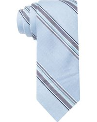 Calvin Klein Steel Colored Denim Stripe Skinny Tie - Lyst
