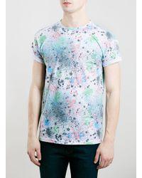 Topman Multi Coloured Splat T-Shirt - Lyst