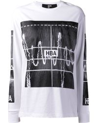 Hood By Air White Graphic Shirt - Lyst