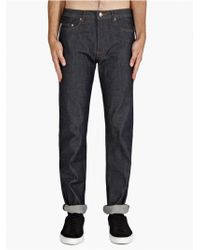 A.P.C. New Standard Jeans Raw blue - Lyst