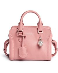 Alexander McQueen | 'padlock' Mini Leather Tote | Lyst