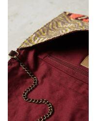 Jasper & Jeera - Textured Tile Envelope Clutch - Lyst