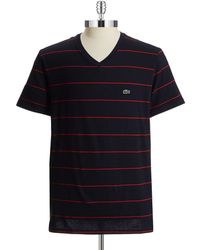 Lacoste Striped T-Shirt - Lyst