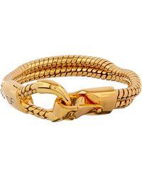 Diane von Furstenberg - Snake-Chain Gold-Plated Bracelet - Lyst