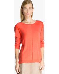 Halston Back Drape Sweater - Lyst