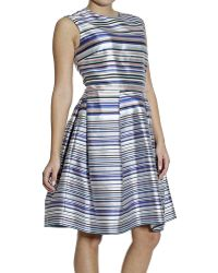 Dior Dress Sleeveless Striped - Lyst