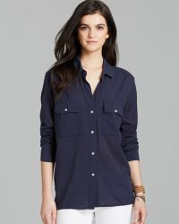 James Perse Shirt Button Down Pocket - Lyst