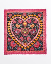Fraas Love Square Scarf - Lyst
