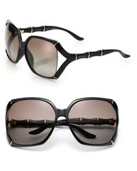 Gucci Sectioned 58Mm Square Sunglasses - Lyst