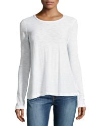 James Perse A-line Long-sleeve Tee - Lyst