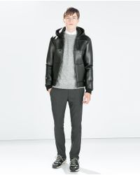 Zara Jacket with Zip - Lyst