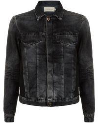 Calvin Klein Ramon Coated Denim Jacket black - Lyst