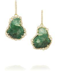 Kimberly Mcdonald - 18karat Gold Emerald and Diamond Earrings - Lyst