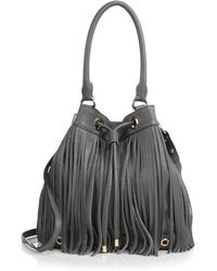 Milly Essex Fringed Crossbody Bag gray - Lyst