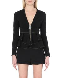Givenchy Neoprene Peplum Jacket - For Women - Lyst