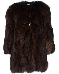Miu Miu Leopard-Print Shearling Coat - Lyst
