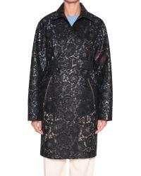 Sonia Rykiel Tech Lace Trench Coat - Lyst