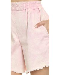 Rachel Comey - Rogue Shorts - Pink Acid Wash - Lyst