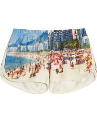 All Things Fabulous - + Rio Printed Cotton-Blend Terry Shorts - Lyst