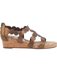 Vaneli For Jildor Kelcie Wedge Sandal Bronze Leather - Lyst