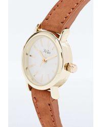 Reflex - Suede Strap Watch In Tan - Lyst