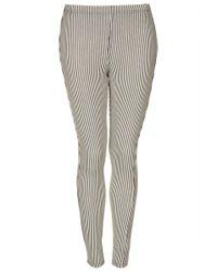 Topshop Pinstripe Denim Leggings - Lyst