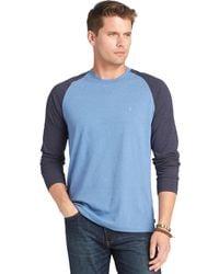 Izod Colorblocked Longsleeve Raglan Tshirt - Lyst