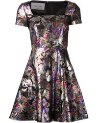 Valentino Lame Butterfly Brocade Dress - Lyst