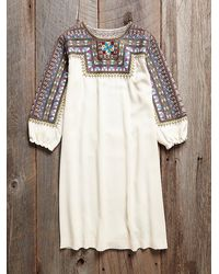Free People Vintage Embroidred Tunic - Lyst