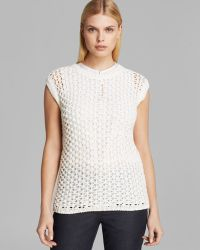 Max Mara Top Eddy Sleeveless Cotton Fisherman - Lyst