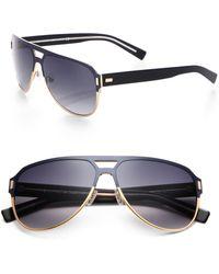 Dior Homme Black Tie Titanium Aviator Sunglasses blue - Lyst
