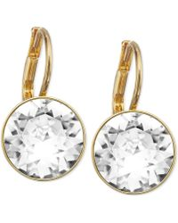 Swarovski Goldtone Crystal Drop Earrings - Lyst