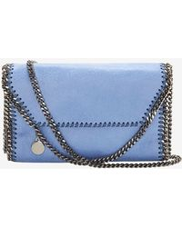 Stella McCartney Mini Three Chain Crossbody Sky - Lyst