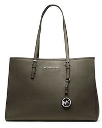 Michael Kors Jet Set Travel Saffiano Leather Tote - Lyst
