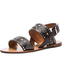 Valentino Teodora Leather Sandals - Lyst