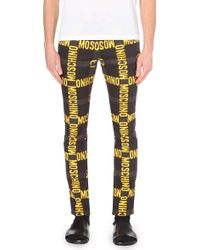 Moschino Logo-Print Slim Mid-Rise Jeans - For Men - Lyst