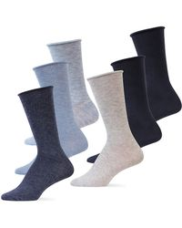 Pink Pony 6-pack Roll Top Polo Trouser Socks